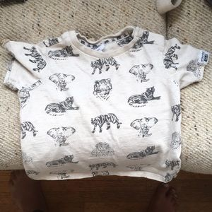 Art & Eden 6-12 month animal short sleeve tshirt